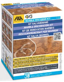 FILA MARBLE RESTORER: Restaurierungsset für Marmor